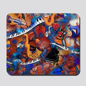 Music Madness Guitar Piano Saxophone Ins Mousepad
