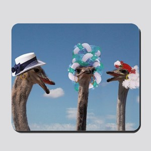 Crazy Hat Day - Ostrich Fashion Mousepad