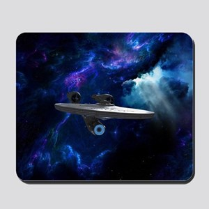 STARTREK XI ON BLUE Mousepad