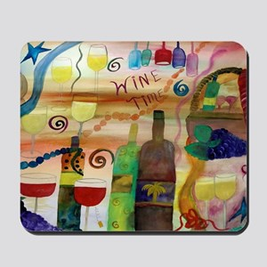 Wine time art Mousepad