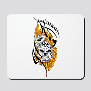 Skulls with Flames Mousepad