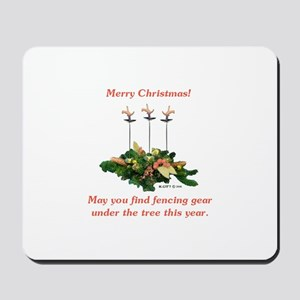 Fencing Christmas Mousepad