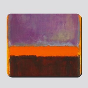 ROTHKO PURPLE ORANGE BROWN Mousepad