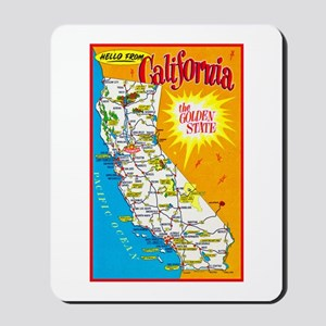 California Map Greetings Mousepad