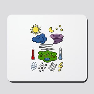 Weather chart symbols Mousepad