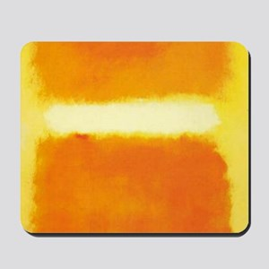 ROTHKO ORANGE AND WHITE LIGHT Mousepad