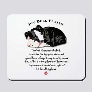Pit Bull Prayer Mousepad