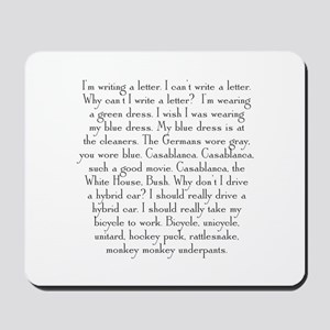 Monkey Monkey Underpants 2 Mousepad