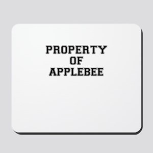 Property of APPLEBEE Mousepad