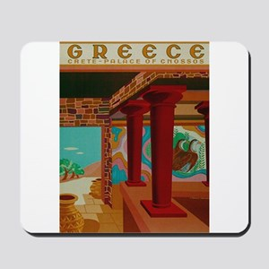 Vintage Crete Greece Travel Mousepad