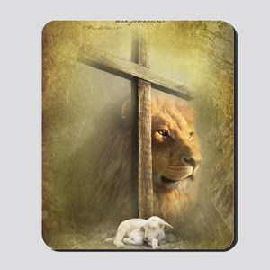 The Lion and the Lamb Mousepad