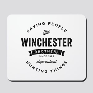 SUPERNATURAL Winchester Bros black Mousepad