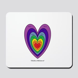 Chakras Balanced Heart Shape Mousepad