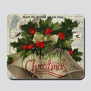 Merry Christmas vintage bells Mousepad