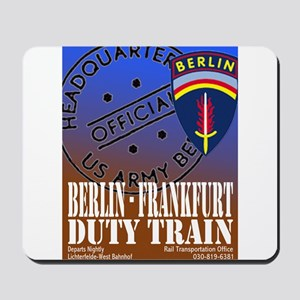 The Berlin to Frankfurt Duty Mousepad