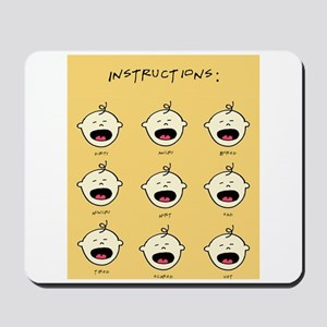 Funny Quotes New Parents Mouse Pads - CafePress