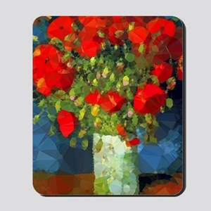 Van Gogh Red Poppies Floral Mousepad