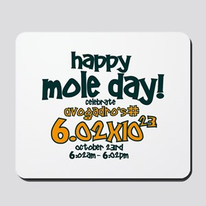 Happy Mole Day ! Mousepad