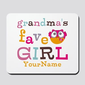 Grandmas Favorite Girl Personalized Mousepad