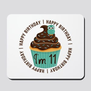 11th Birthday Cupcake Mousepad