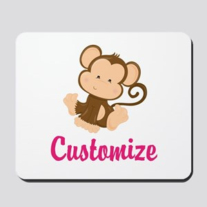 Personalize this adorable baby monkey w/ Mousepad