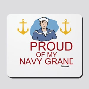 Proud Of My Navy Grandson Mousepad