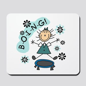 Girl on Trampoline Mousepad
