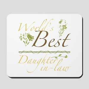 Vintage Best Daughter-In-Law Mousepad