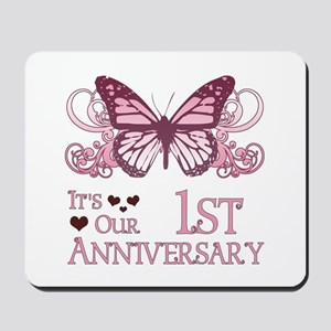 1st Wedding Aniversary (Butterfly) Mousepad