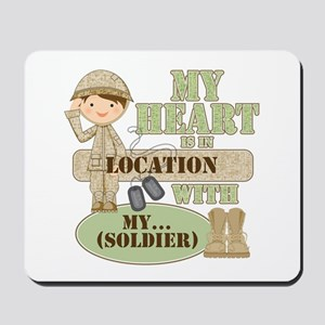 Heart With Soldier Mousepad