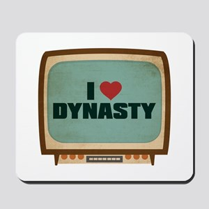 Retro I Heart Dynasty Mousepad
