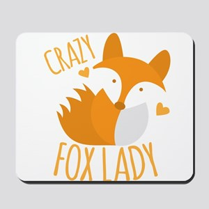 Crazy Fox Lady Mousepad