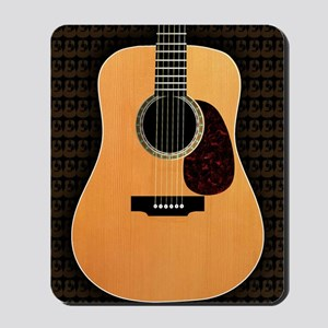 acoustic-guitar-framed panel print copy Mousepad