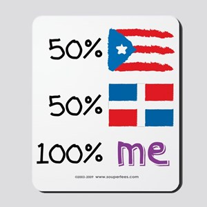 Puerto Rico/Dominican Republic Flag Mousepad