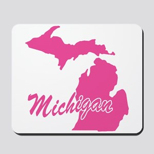 Pink Michigan Mousepad