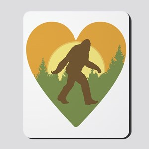Bigfoot Love Mousepad