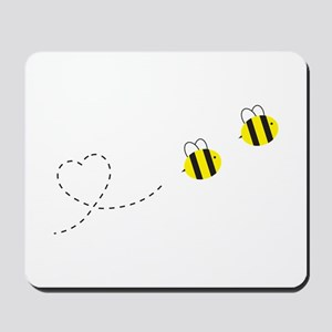 Bee in Love Mousepad