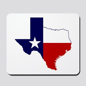 Texas Flag on Texas Outline Mousepad