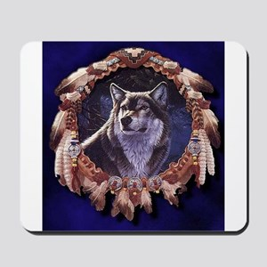 Native American Wolf Dream Catcher Mousepad