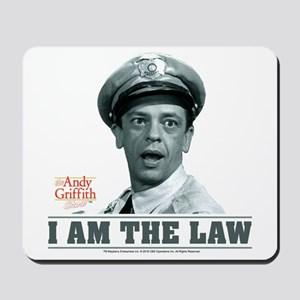 I Am The Law Mousepad