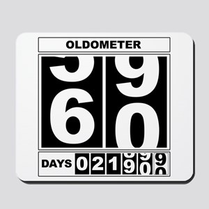 60th Birthday Oldometer Mousepad