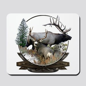 Big game elk and deer Mousepad