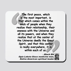 Black Elk Spirit Quote Mousepad