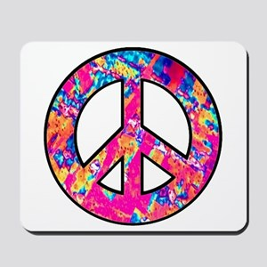 Peace Symbol Psychedelic Pinks Mousepad