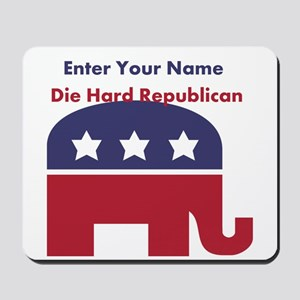 Personalize Die Hard Republican Mousepad