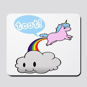 Cute Unicorn Fart! ... TOOT! Mousepad
