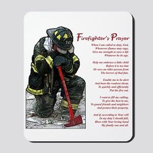 Firefighter Prayer Mousepad