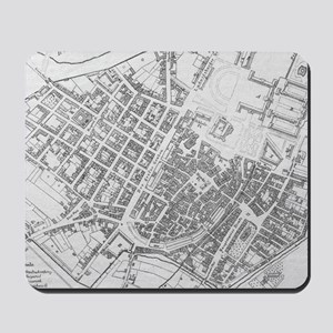 Vintage Map of Stuttgart Germany (1794) Mousepad