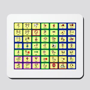 7 by 7 Core Word Communication Board - AAC Mousepa
