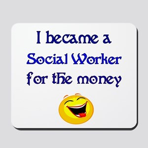 Laughing Social Worker Mousepad